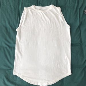 White Lululemon muscle tank - medium